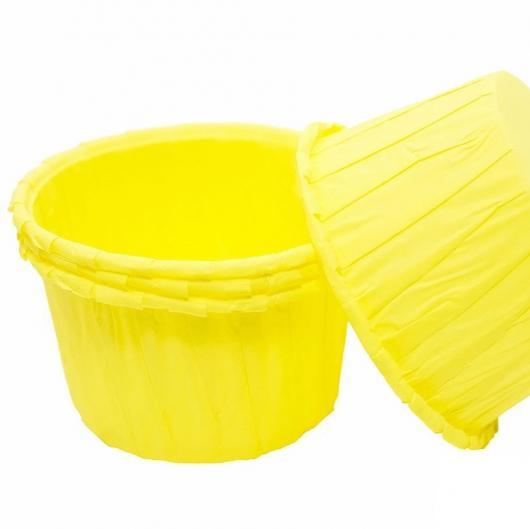 Капсулы капкейк 100 шт желтый