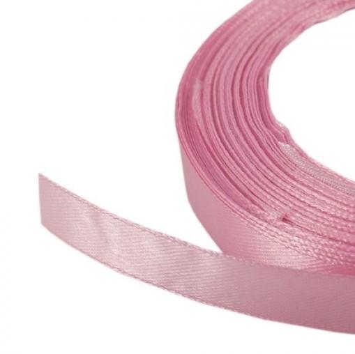 Лента атласная 1,2 см розовый, 111, 23 м
