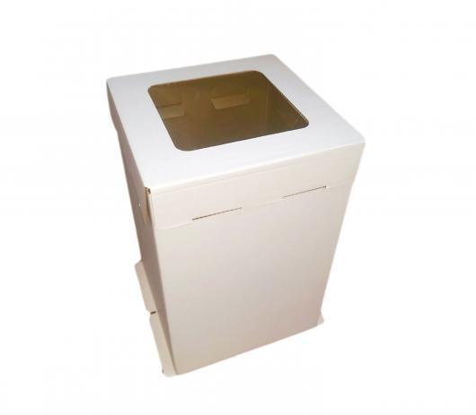 Коробка для торта 42 см*42 см*45 см с окном