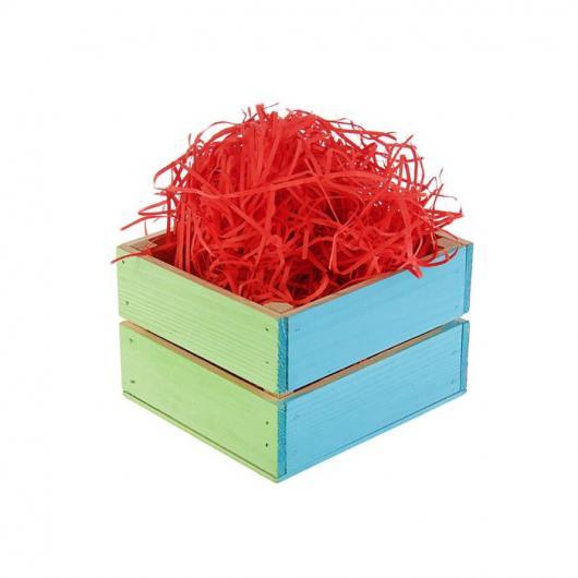 Наполнитель бумажный красный-коралловый 0,05 кг