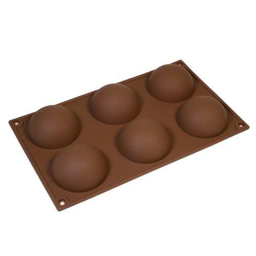 Форма для шоколада сфера силикон 7 см 6 ячеек