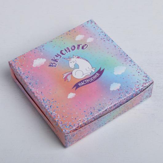 Коробка складная «Вкусного настроения», 14 × 14 × 3.5 см