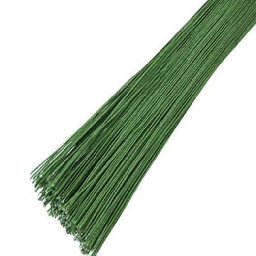 Проволока 10 шт зеленая в бумажной оплетке D 0.55