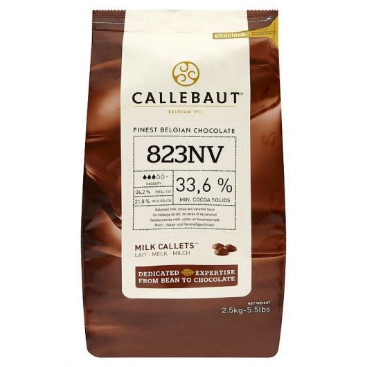 Callebaut Шоколад молочный в галлетах 33,6% 2,5 кг