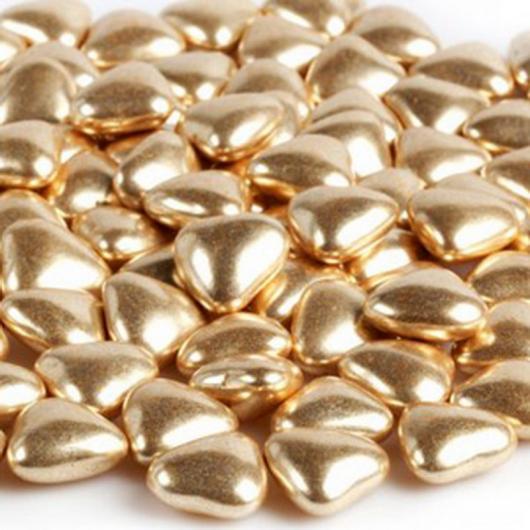 Украшение шок золотое сердечко 20-25 мм 0,05 кг