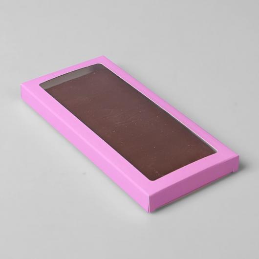 Коробка для шоколадки 17,1 х 8 х 1,4 см  розовая