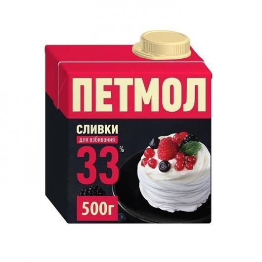 Сливки Петмол 33% 0,5л