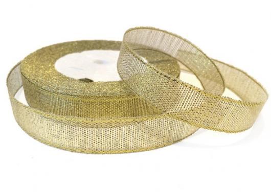 Лента парча 1,2 см золото 3770, 23 м