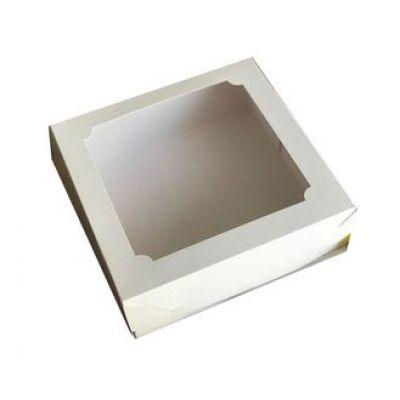 Коробка для зефира  20 см*20 см*7 см белая