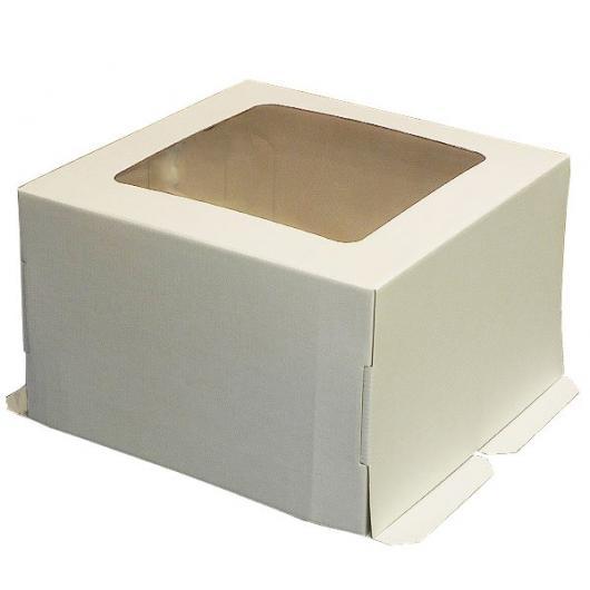 Коробка для торта 30 см*30 см*19 см  с окном (2 категория)