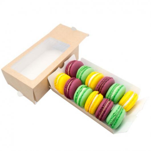 Коробка для макарун на 12 шт 18 см*11 см*5,5 см крафт