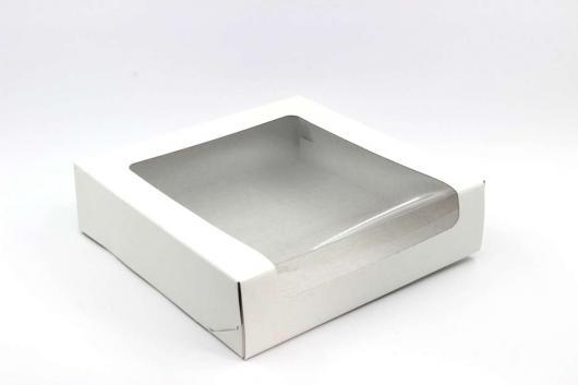 Коробка для зефира  22 см*22 см*6 см белая (КТ60)