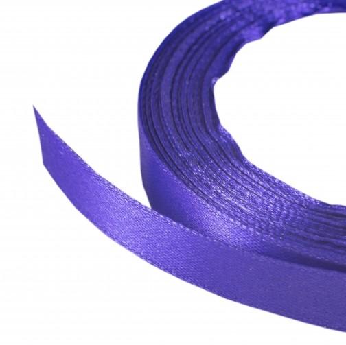 Лента атласная 1,2 см фиолетовый 187, 23 м