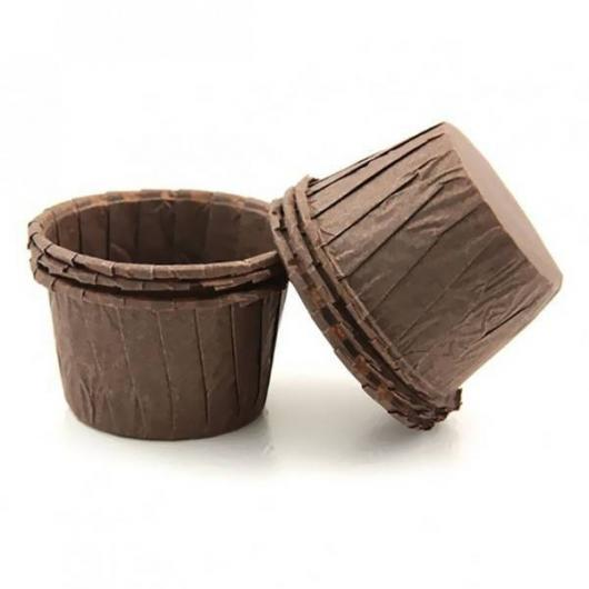 Капсулы капкейк 100 шт коричневые