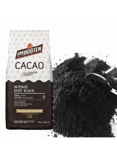 Какао VanHouten intense deep black 1 кг черный