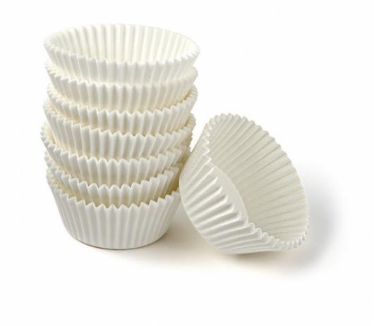 Капсулы для маффинов 55мм*43 мм 100 шт белый