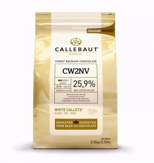 Callebaut Шоколад белый в галлетах 25,9% 2,5 кг