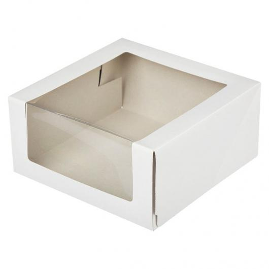 Коробка для торта 22,5 см*22,5 см*11 см с окном КТ110