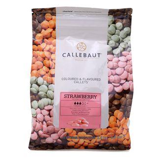 Callebaut Шоколад со вкусом клубники в галлетах 2,5 кг
