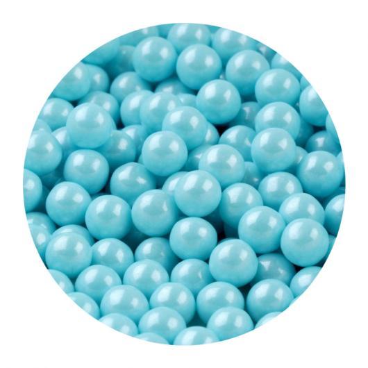 Сахарный жемчуг Голубой перламутр 10 мм