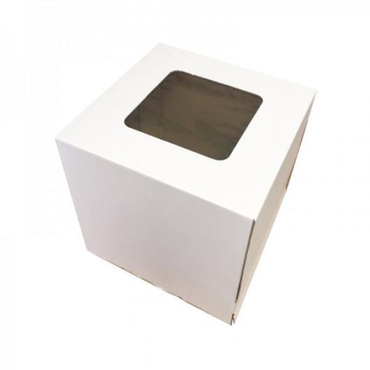 Коробка для торта 30 см*30 см*30 см с окном (2 категория)