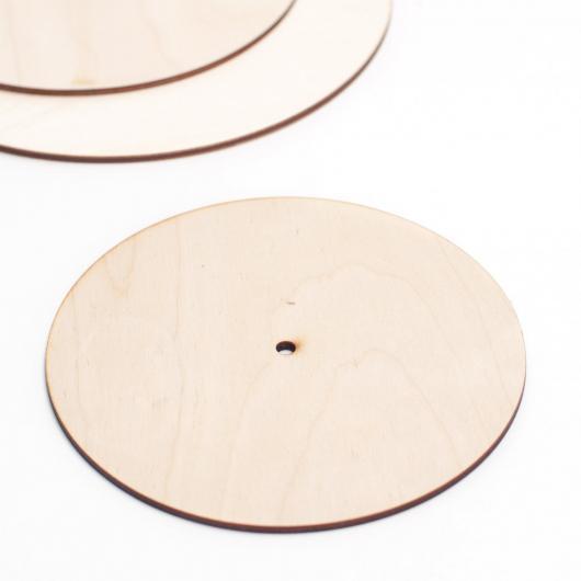 Деревянная подложка для торта 20 см с отверстием