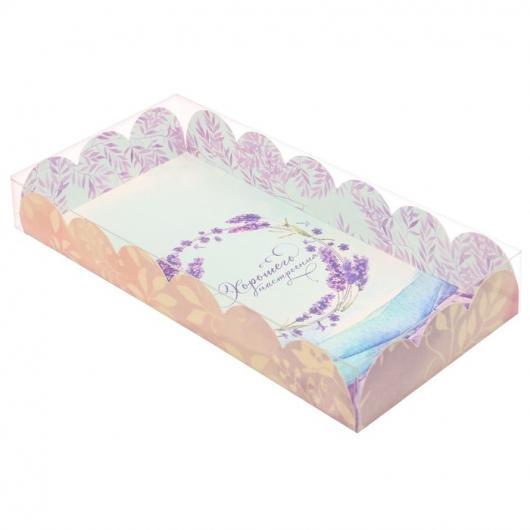 Коробка для кондитерских изделий с PVC крышкой «Хорошего настроения», 10.5 × 21 × 3 см