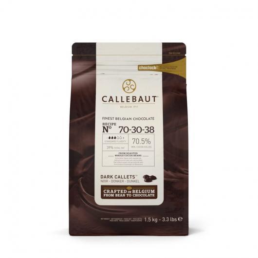 Callebaut Шоколад горький в галлетах 70,5% 2,5 кг