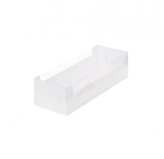 Коробка под рулет с пластиковой крышкой 30 см *11 см *8 см белая