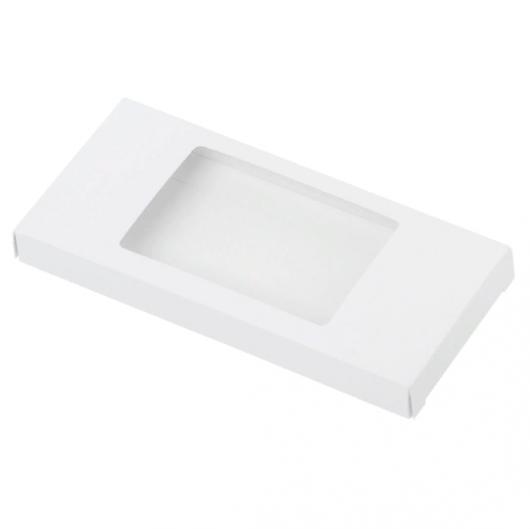 Коробка для шоколадки 18*9*1,7 см  белая
