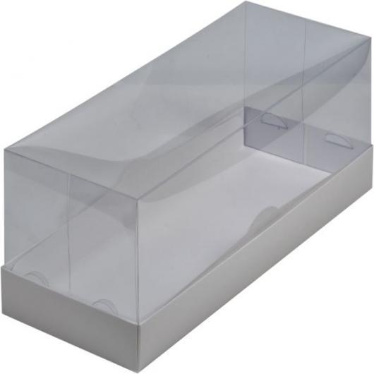Коробка под рулет 30 см *12 см *12 см белая с пластиковой крышкой