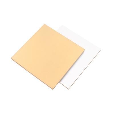 Подложка для торта 30 см*30 см плотность 3,2 золото/белый