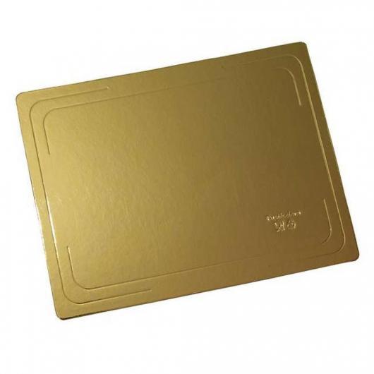 Подложка для торта 30 см*40 см плотность 1,5  золото/белый