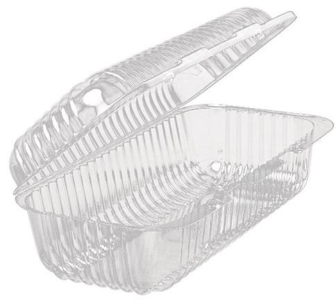 Упаковка для рулета пластик 26 см х12 см х 12 см